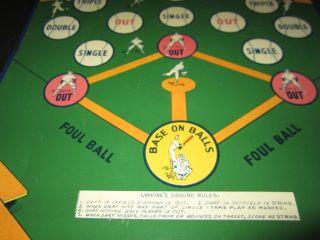 Old c.1950s Vintage   BIG LEAGUE BASEBALL   Tin Dart Board GAME