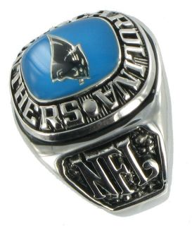 Balfour Ring Mens Football Carolina Panthers NFL Sz 13