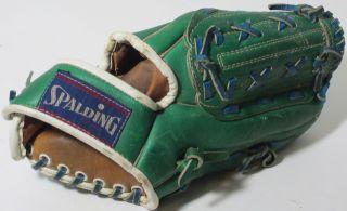 SPALDING TOM SEAVER Green Blue SIGNATURE SERIES EZ FLEX Baseball Glove