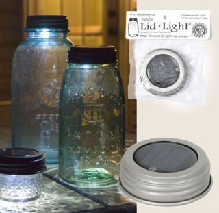 Powered Mason Canning Fruit Ball Jar LED Lid Light Rustic Lamp
