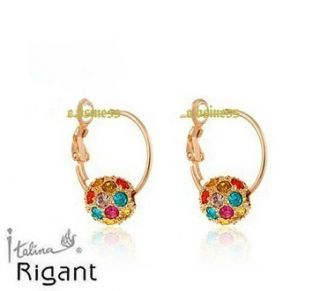 GP Color Austrian Swarovski Crystal Ring Ball Pendant Earrings