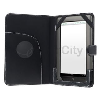 Black PU Leather Case Pouch Cover For  Nook Tablet