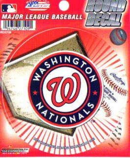 Washington Nationals Round MLB Team Logo Decal Sticker