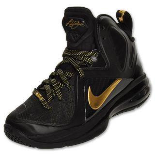 Nike Lebron 9 Elite Kids Basketball Shoes Black Metallic Gold 518215