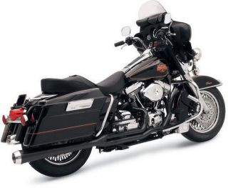Bassani Road Rage Exhaust Long Black Harley Davidson FLHR 1985 2006