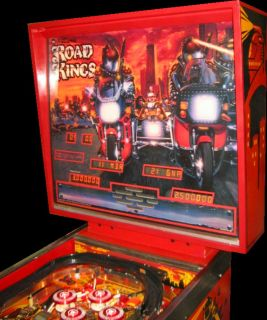 Williams Road Kings Pinball Machine Futuristic Harley Motorcycle Theme
