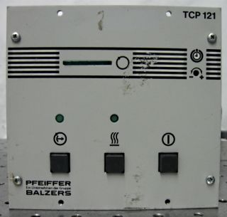 Balzers TCP121 Turbo Vacuum Pump Controller Cables Band Heater