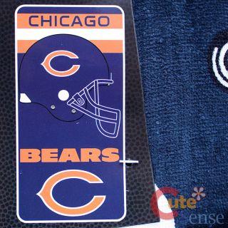 NFL Chicago Bears Beach Towel Bath Towel 30x60 Cotton Helmet Logo