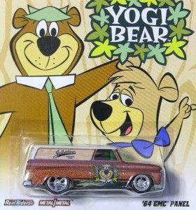 Hot Wheels 2012 Hanna Barbera YOGI BEAR 64 GMC PANEL Brown MOC