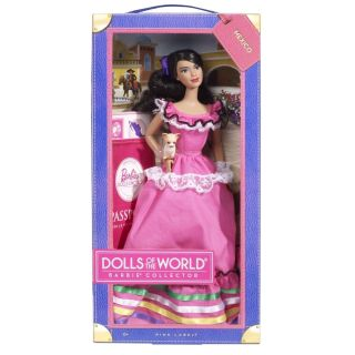 Mattel Barbie Mexico Dolls of The World Barbie Collector Pink Label