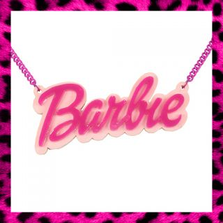 Barbie Necklace Pink Nicki Minaj Doll Fancy Dress Retro Choose Your