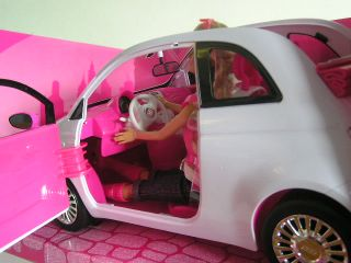 Barbie Doll Fiat 500C Convertible Car Voiture Auto Coche Carro Malibu