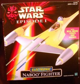 Star Wars Electronic Naboo Fighter Phantom Menace Episode I