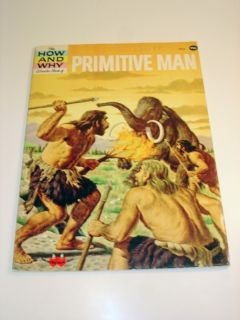1976 Prehistoric Man How Why Wonder Book 5024 Donald Barr