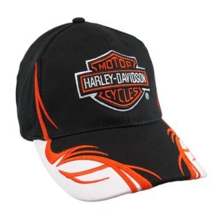 Embroidered Harley Davidson Tribal Flame Baseball Cap