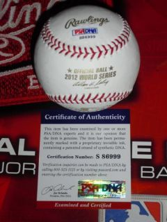 SIGNED 2012 WORLD SERIES BASEBALL, SAN FRANCISCO GIANTS, PSA/DNA