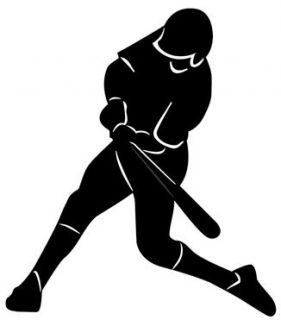 Baseball Hitter Sports Figure Vinyl Wall Decal Sticker