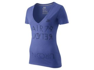 Store España. Camiseta de cuello en V con escote Nike Air 79   Mujer