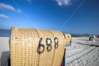 Number 688 Beach Chair Royalty Free Stock Photo