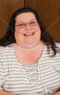 Obèse, Femmes, Visage, 40 45 ans, Double menton Photo libre de droits
