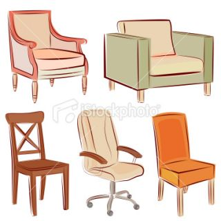 Chairs Royalty Free Stock Vector Art Illustration