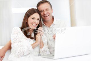 Internet, Quadragénaire, Choisir, Femmes, Tous types de couple Photo
