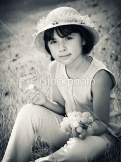 Little girl eating grape Royalty Free Stock Photo