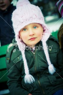 stock photo 11037902 cute little girl outdoors