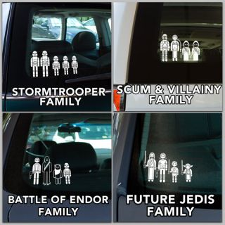 Star Wars Family Car Decals for $9.99   family, automotive, star wars