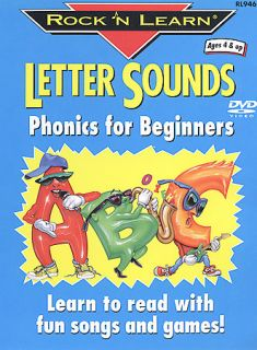 Rock N Learn   Letter Sounds Phonics For Beginners (DVD, 2