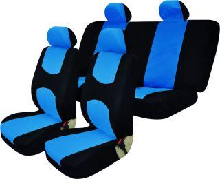 1985 2012 VOLKSWAGEN GOLF BLUE AND BLACK SEMI CUSTOM SEAT COVERS