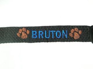 Personalized Embroidered Dog Collar with Paw Print Great Gift For Your