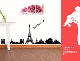 REMOVABLE The Paris Eiffel Tower Room Wall vinyl mural decor