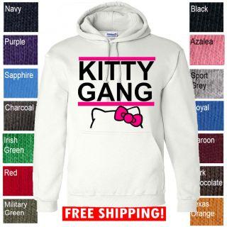 new KITTY GANG HELLO TAYLOR DRAKE WIZ KHALIFA SWAG ILLEST HOODIE