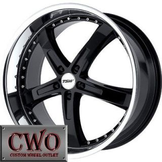 19 Black Tsw Jarama Wheels Rims 5x120 5 Lug CTS BMW 1 3 Series Acura