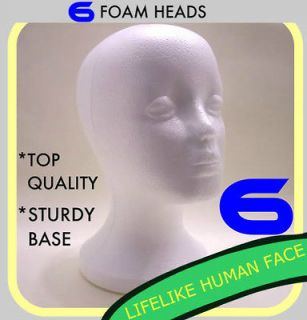 Newly listed 6 FEMALE FOAM STYROFOAM MANNEQUIN HEADS WIG HAT MODEL