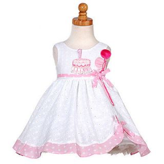 Newly listed White Pink Balloon 1st Birthday Dress Baby Girl 12M