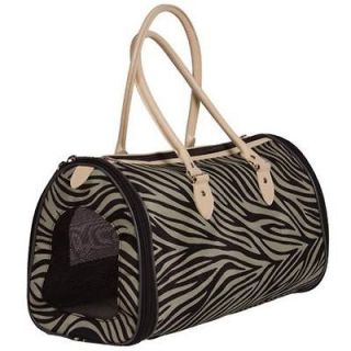VIPet BOTTEGA 18 Zebra Print Purse Style Designer Pet Carrier Cat