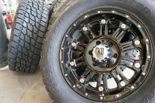 17 XD HOSS GLOSS BLACK WHEELS RIMS & 285/70R17 NITTO TERRA GRAPPLER