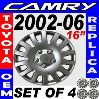 2006 TOYOTA CAMRY 16 Wheel Hub Caps Silver (Fits: 2009 Toyota Camry