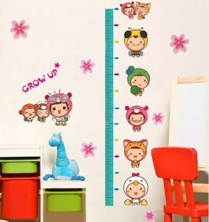 Newly listed A Cute Kids Growth Height Chart Measure Wall Sticker