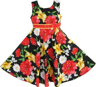 Girls Dress Multi color Bow Tie Flower Children Clothes Size 13 14 NWT