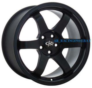 17 Rota Wheels 17x9 GRID Flat Black 5x114.3 +42 06 07 08 09 10 11 STI