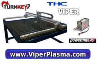 Turnkey New 4 X 4 CNC PLASMA , HYPERTHERM POWERMAX 45,GECKO,THC