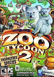 Zoo Tycoon 2 Endangered Species PC, 2005
