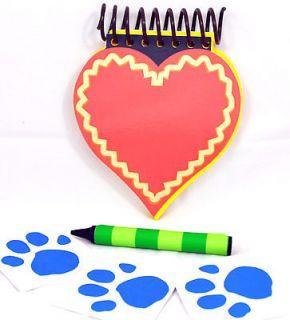 BLUES CLUES HANDY DANDY NOTEBOOK LOVE DAY HEARTSHAPE VALENTINE