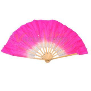 NEW FASHION Sexy feminine Imitation Silk Bamboo Fan for Belly Dance