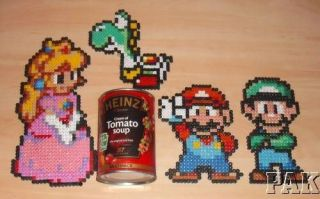 Super Mario Brothers Gaming Character Decorations.Ha​ma Bead Designs