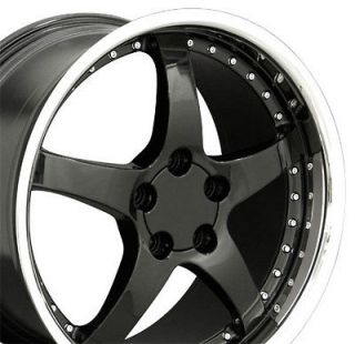 18 19 9.5/10 Black C5 Deep Dish Wheels Rims Fit Corvette