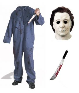 complete deluxe michael myers halloween costume mask xl one day